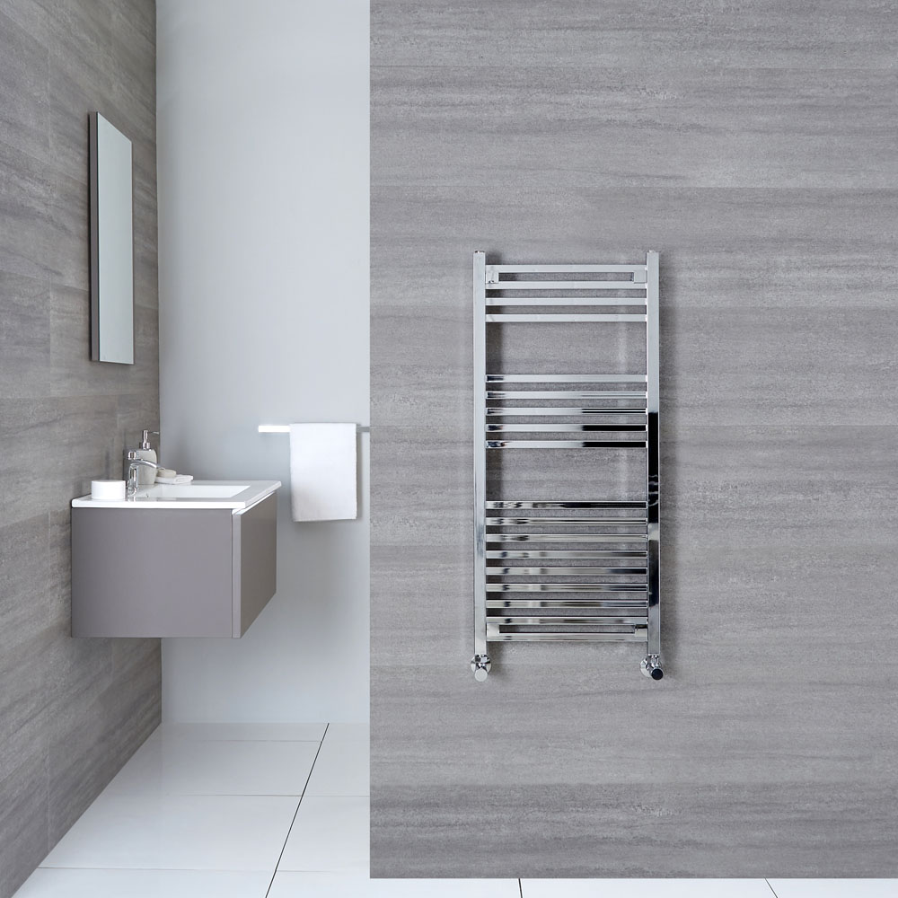 "Select - Hydronic Chrome Heated Towel Warmer - 38.25"" x 17.75"""