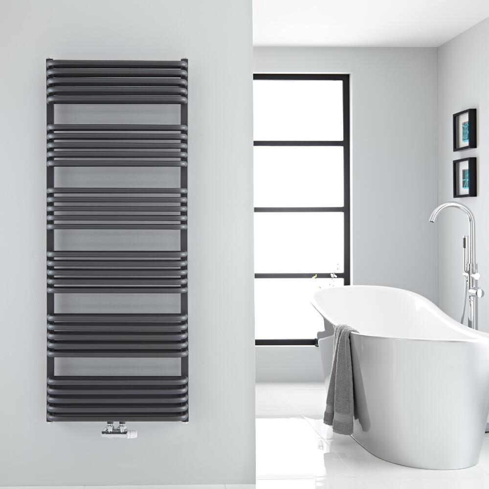 "Arch - Anthracite Hydronic Heated Towel Warmer - 60.25"" x 23.5"""