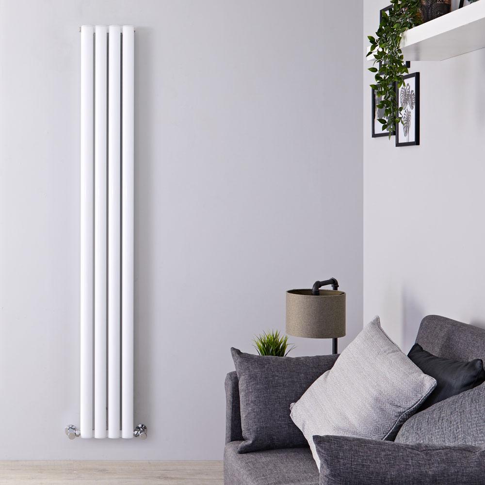 "Revive Air - White Aluminum Vertical Double-Panel Designer Radiator - 70.75"" x 9"""