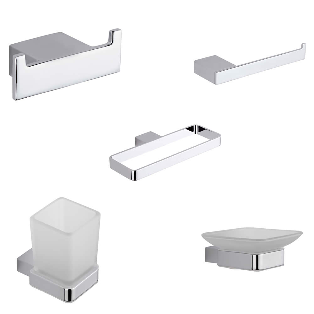 Parade Chrome 5-Piece Bathroom Accessory Set