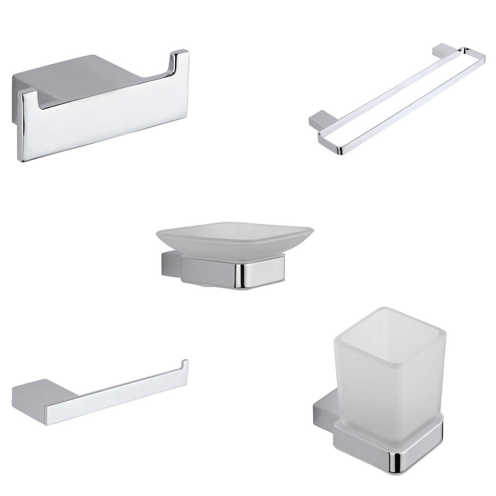 Parade Chrome 5-Piece Bathroom Accessory Bundle
