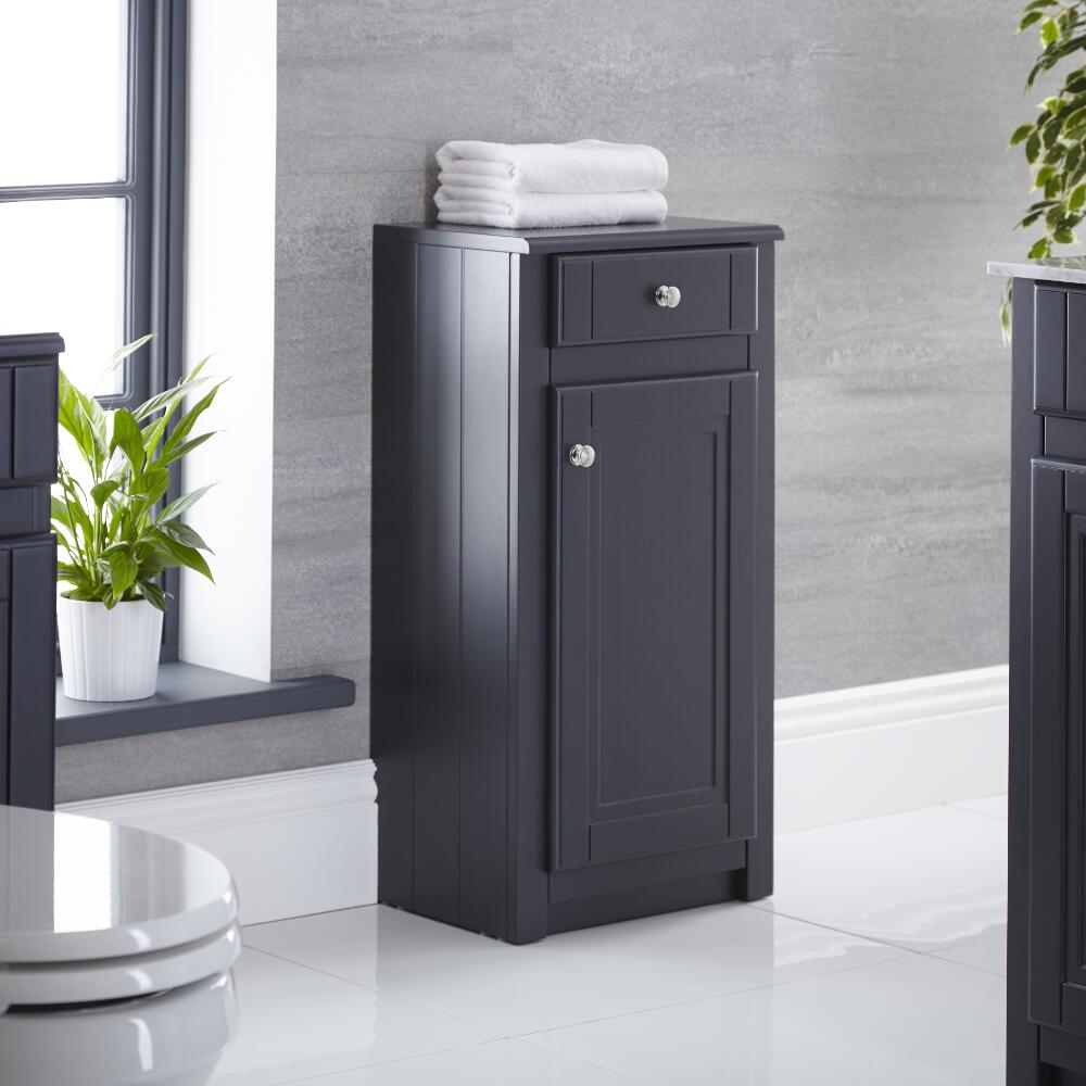 "Charlton - 16"" Anthracite Traditional Storage Cabinet"