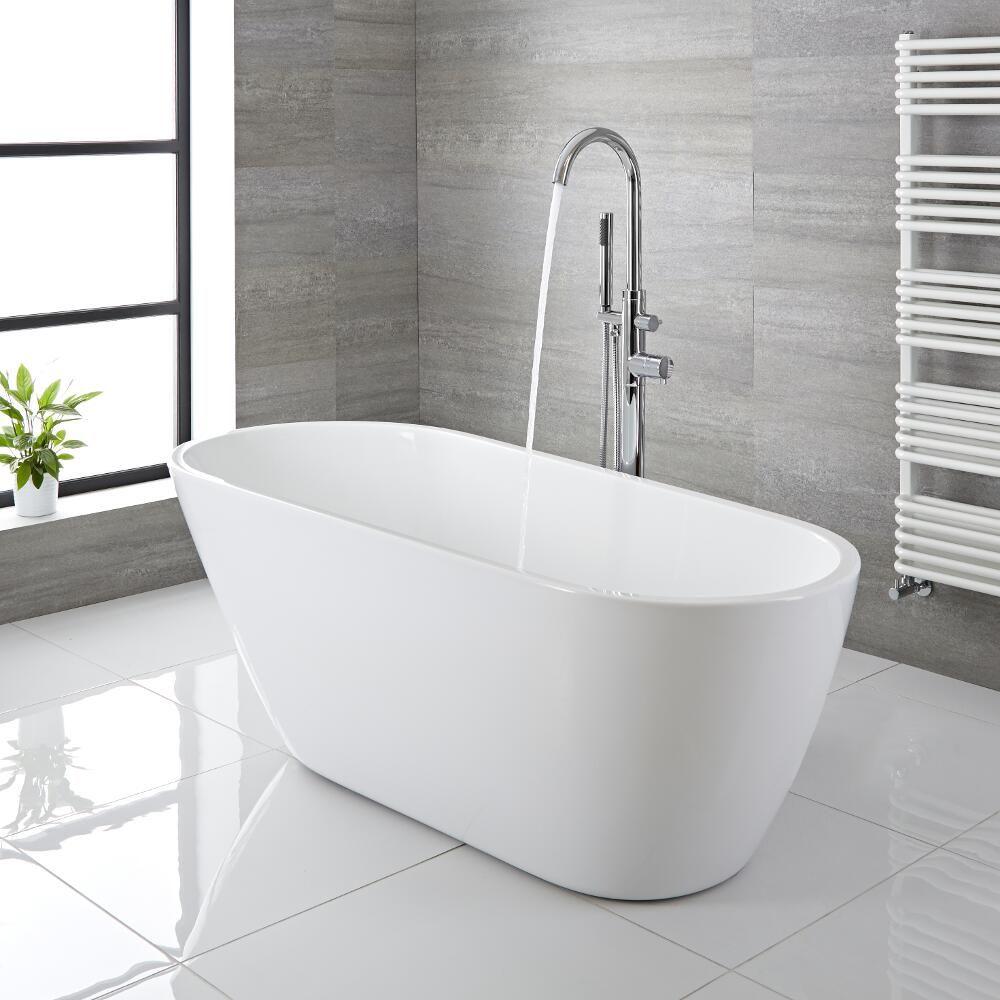 """Spa Bathroom: Modern Acrylic Freestanding Bath Tub 65"""""""