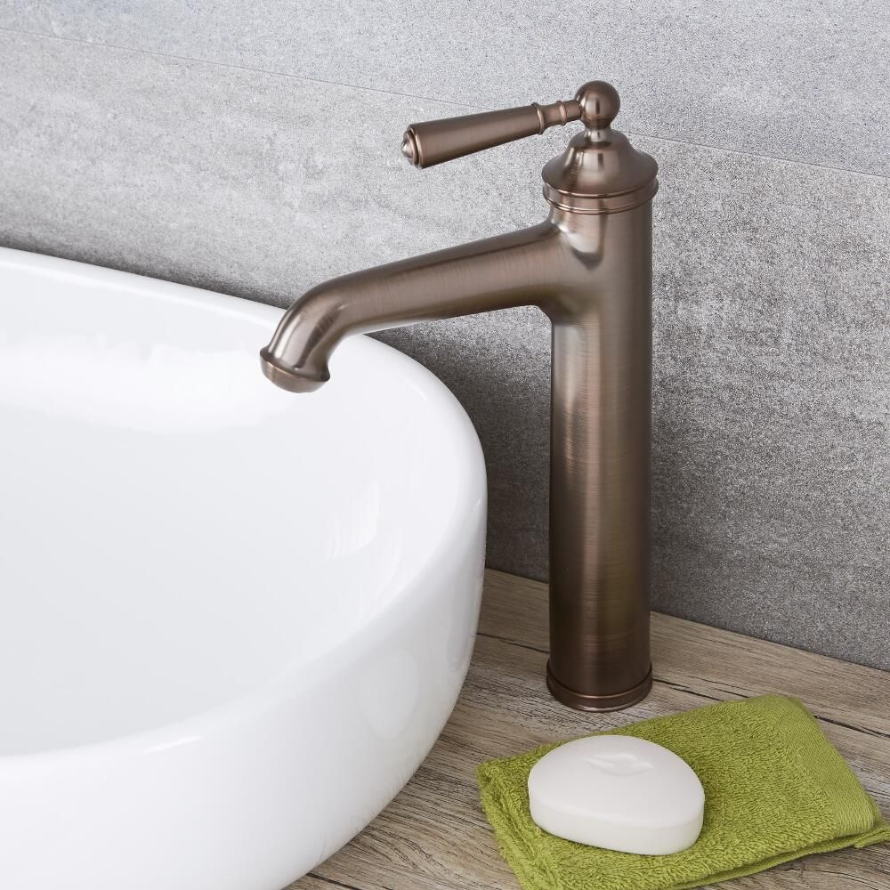 Vessel Sink Faucets Oil Rubbed Bronze.Colworth Traditional Oil Rubbed Bronze Single Hole Vessel Faucet