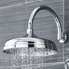 "12"" Apron Shower Head with Curved Wall Arm"