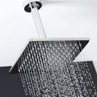 "One Function 8"" Square Ceiling Mounted Shower Head Stainless Steel"