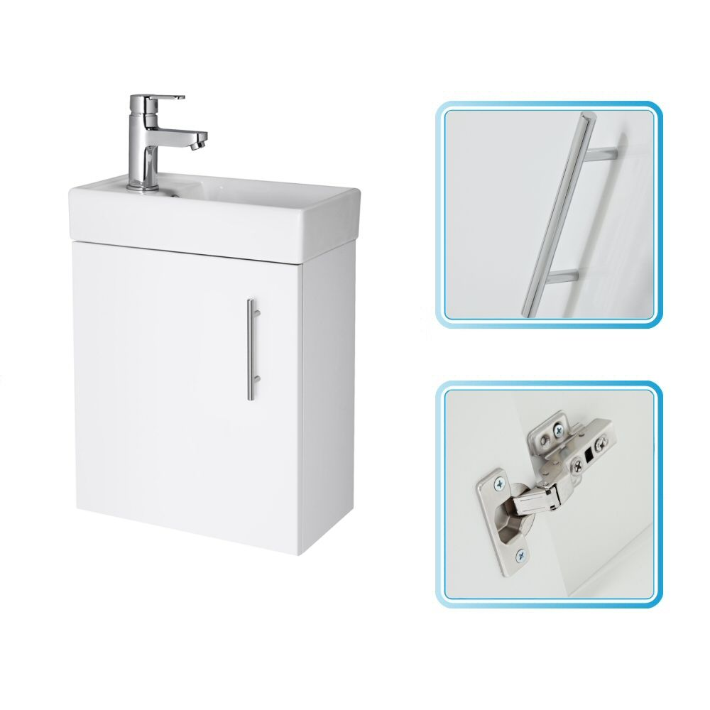 White Small Wall Mount Vanity Vessel Sink 16 Quot