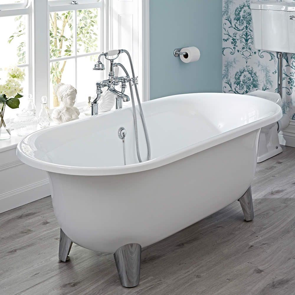 Acrylic Oval Shaped Free Standing Bath Tub With Choice Of