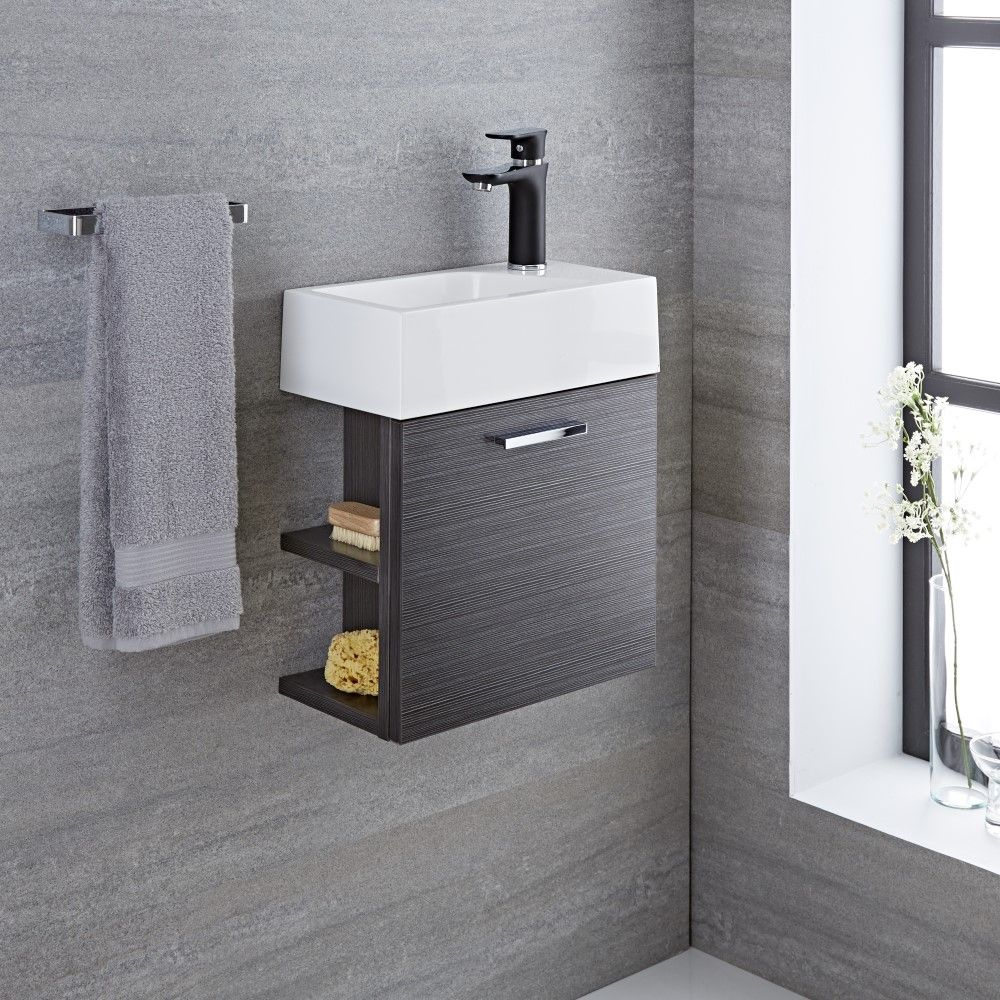 Langley 16 Gray Wall Mount Bathroom Vanity