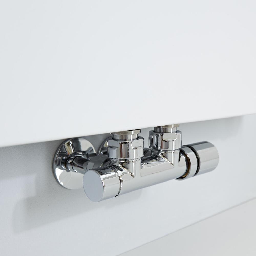 Vivara White Vertical Flat Panel Designer Radiator 70