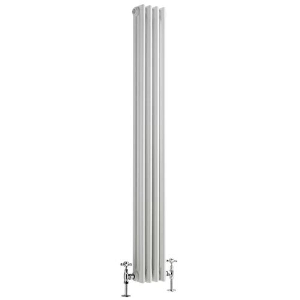 Regent White Vertical 3 Column Traditional Cast Iron Style Radiator 59 X 8