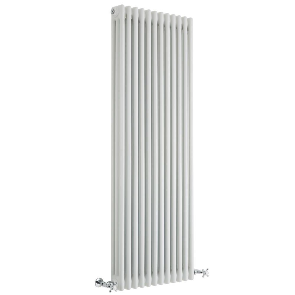 Regent White Vertical 3 Column Traditional Cast Iron Style Radiator 59 X 22 25