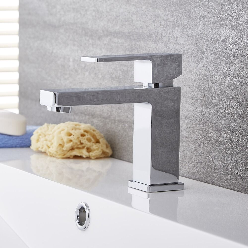 Kubix Chrome Single Hole Bathroom Faucet