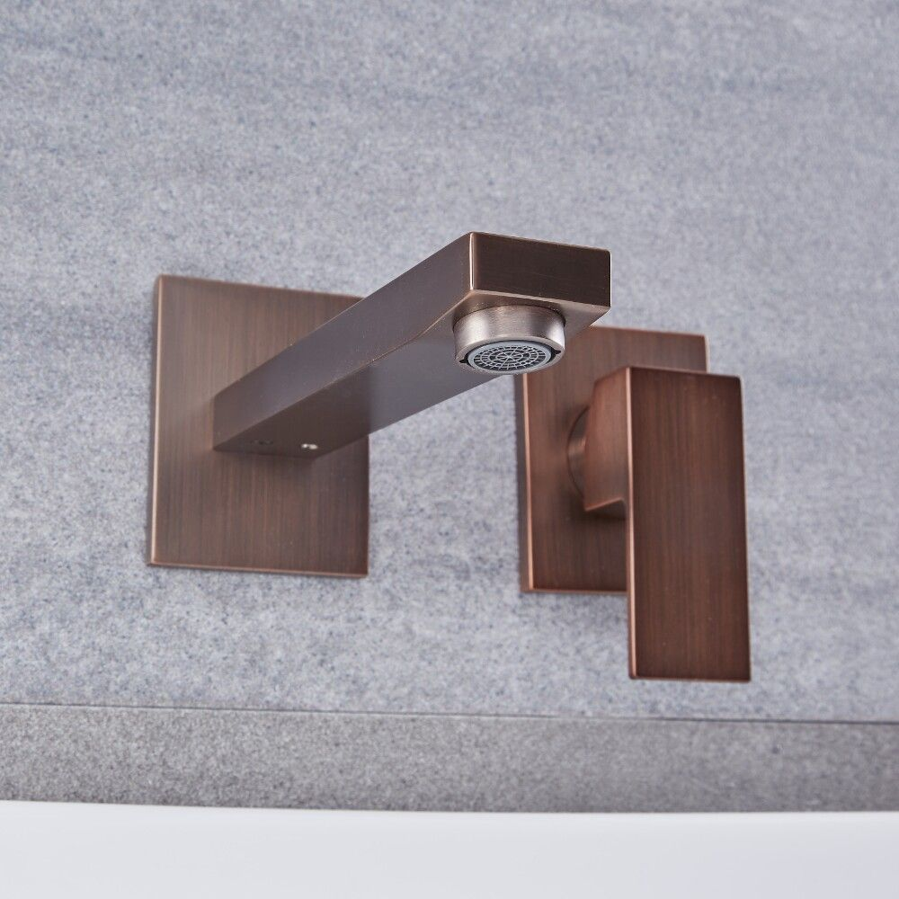 Kubix Oil Rubbed Bronze Wall Mounted Bathroom Faucet
