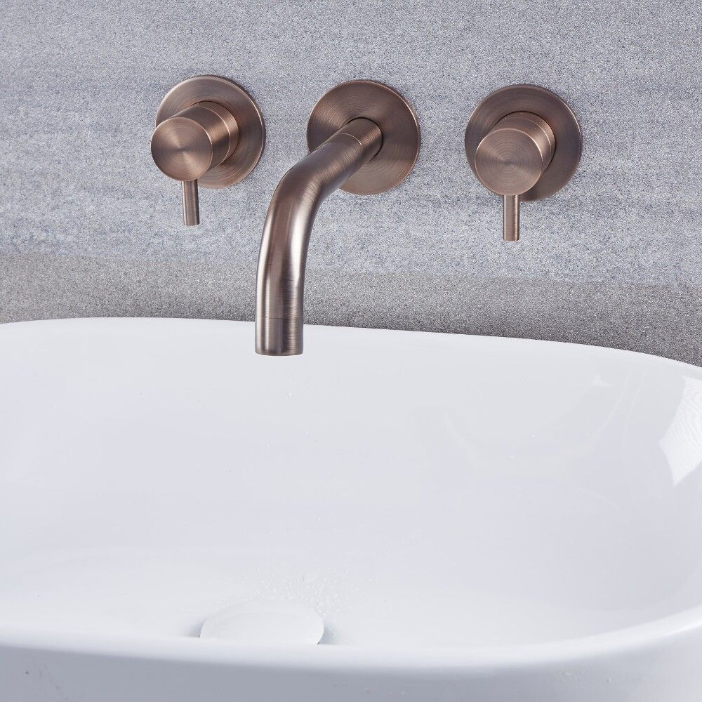 Quest Oil Rubbed Bronze Wall Mounted Bathroom Faucet