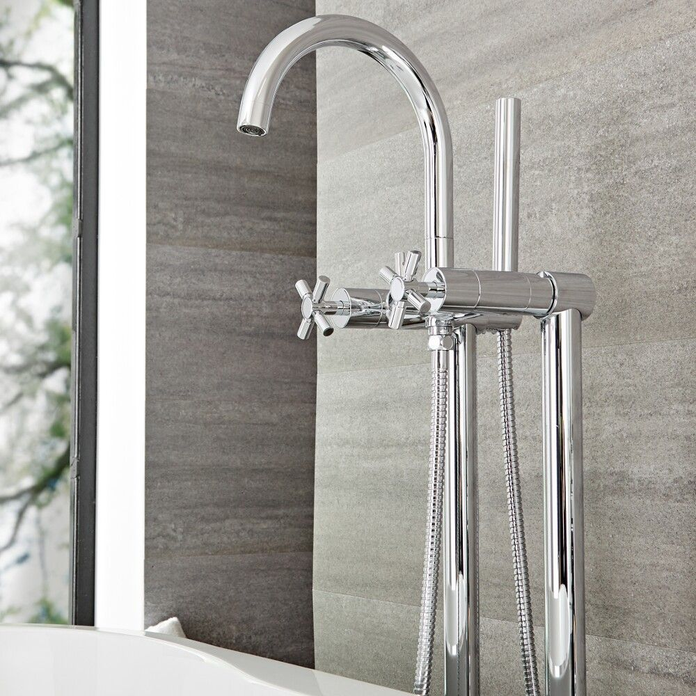 Tec Modern Shower Tub And Sink Faucet Collection Chrome