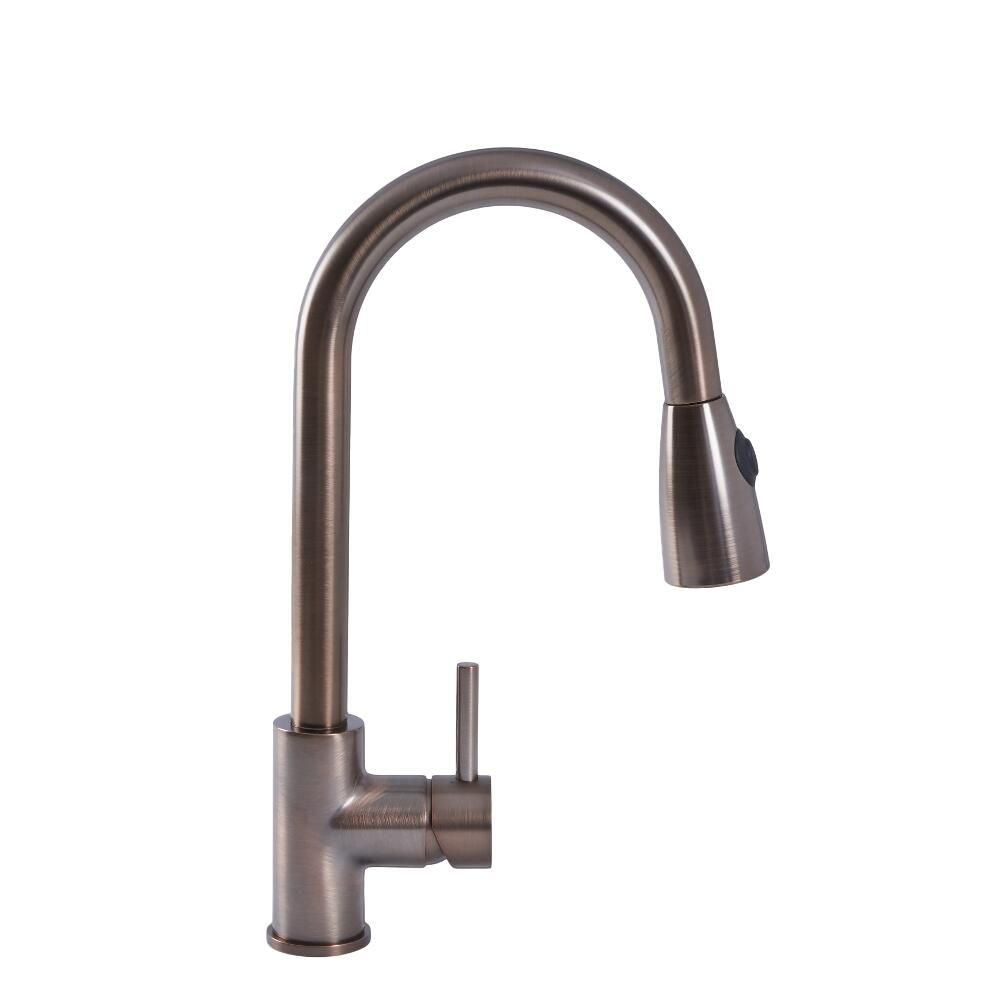 Quest Oil Rubbed Bronze Single Hole Pull Down Kitchen Faucet