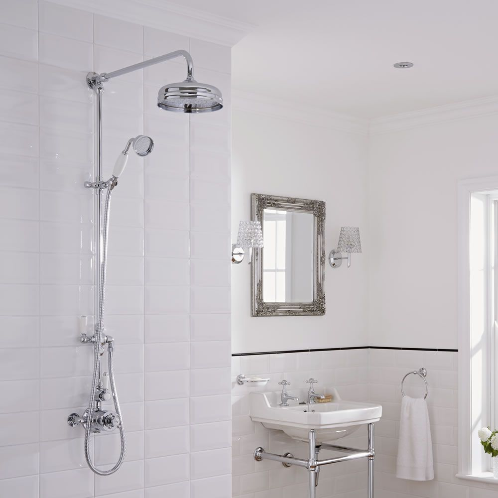 Traditional Grand Rigid Riser Kit With Twin Thermostatic Shower