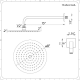 """Eclipse 8"""" Brushed Nickel Round Shower Head with Wall Arm"""