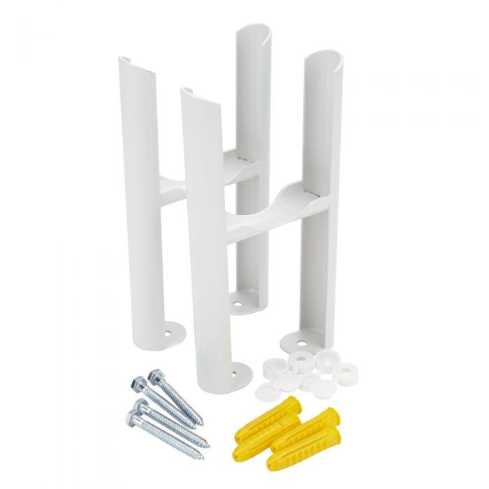 White Floor Mounting Kit for Three-Column Traditional Radiators