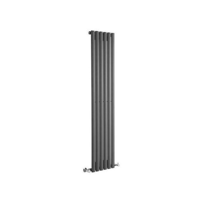 "Revive - Anthracite Vertical Single-Panel Designer Radiator - 70"" x 14"""