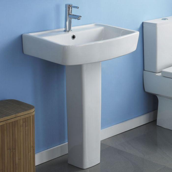 "Modern Bliss  Porcelain Sink and Pedestal 20"""