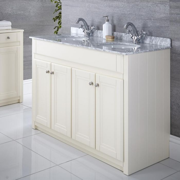 "Charlton - 47"" Ivory Traditional Bathroom Vanity"