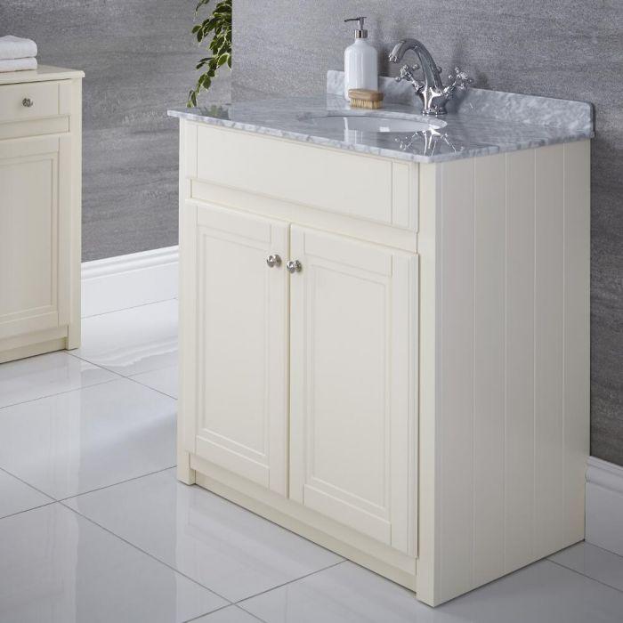 "Charlton - 32"" Ivory Traditional Bathroom Vanity"
