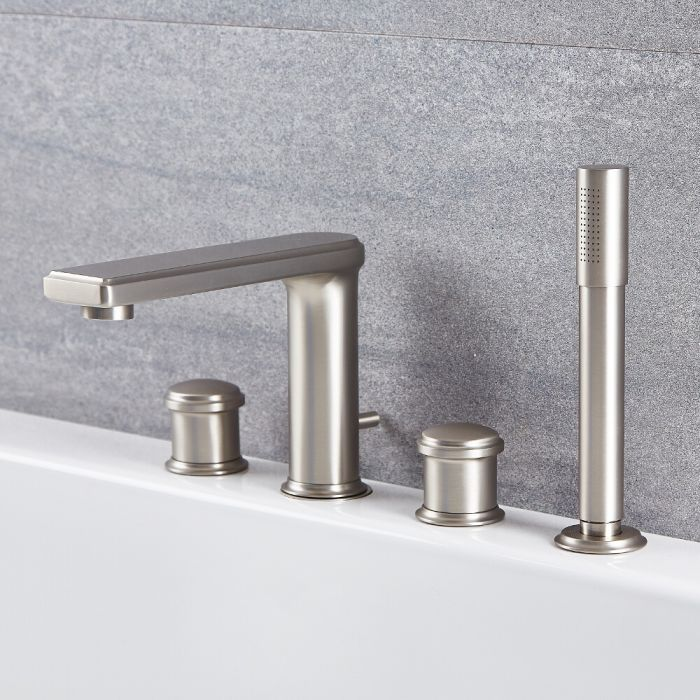 Eclipse - Brushed Nickel Roman Tub Faucet with Hand Shower