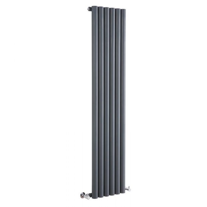 "Savy - Anthracite Vertical Single-Panel Designer Radiator - 70"" x 14"""