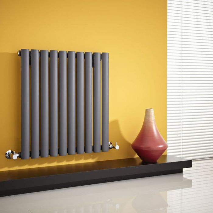 Revive - Anthracite Horizontal Single-Panel Designer Radiator - 25