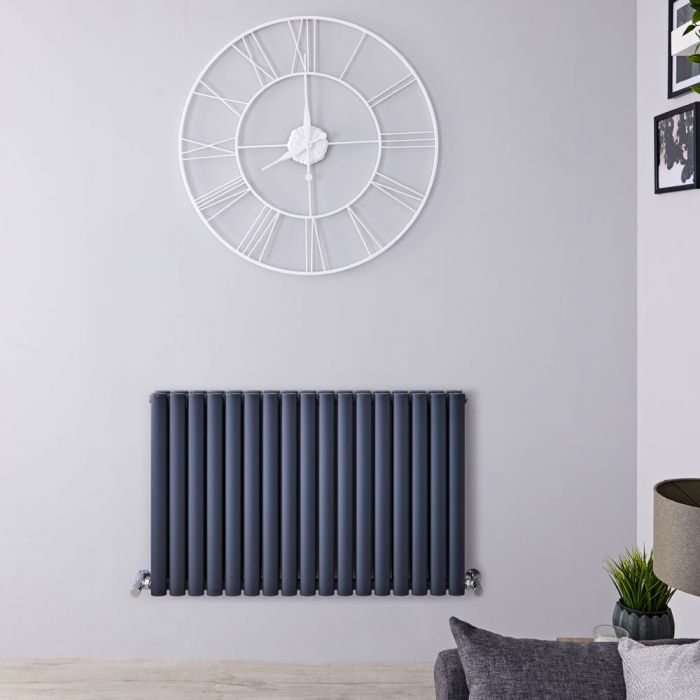 Revive - Anthracite Horizontal Double-Panel Designer Radiator - 25