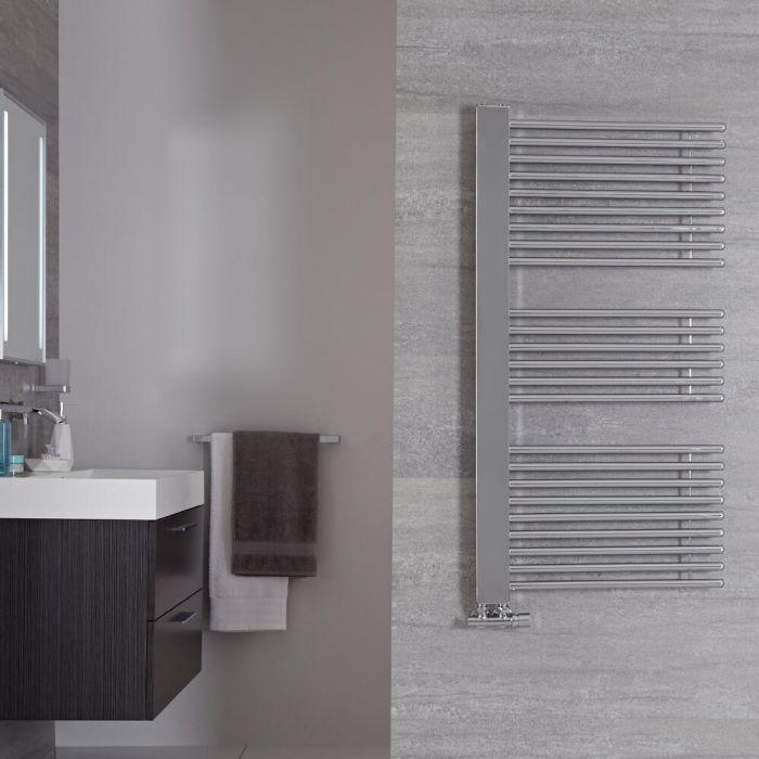 "Bosa - Chrome Hydronic Designer Towel Warmer - 46.75"" x 23.5"""