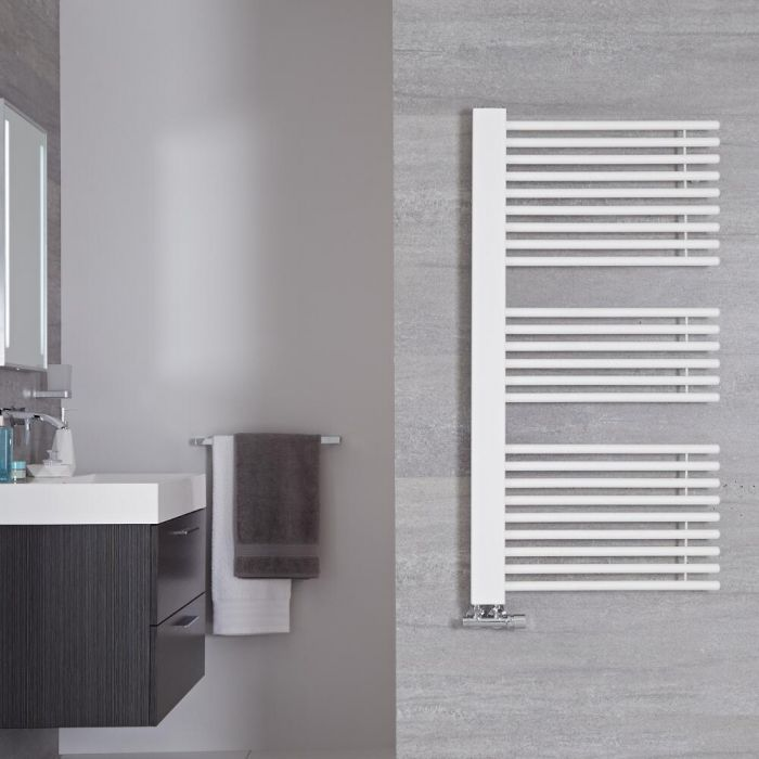 "Bosa - Mineral White Hydronic Designer Towel Warmer - 46.75"" x 23.5"""