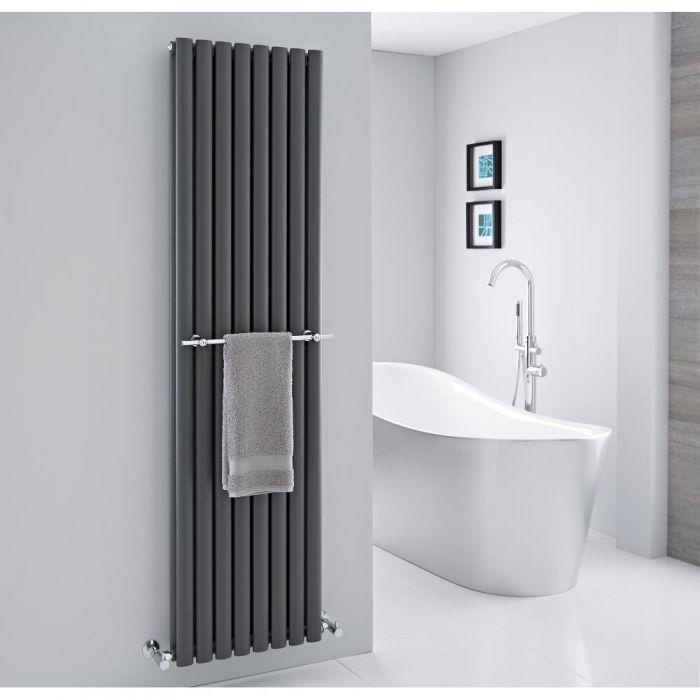 "Hudson Reed - Chrome Towel Rail for Revive Vertical Designer Radiators - 18.5"""