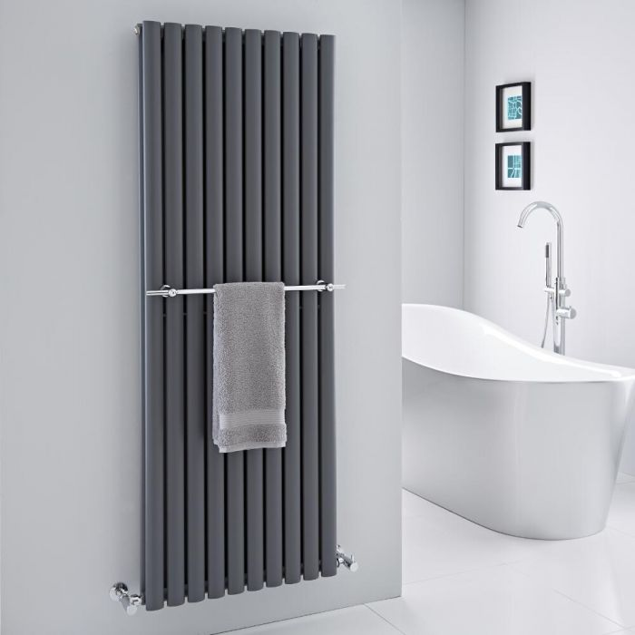 Hudson Reed - Chrome Towel Rail for Revive Vertical Designer Radiators - 23.25""