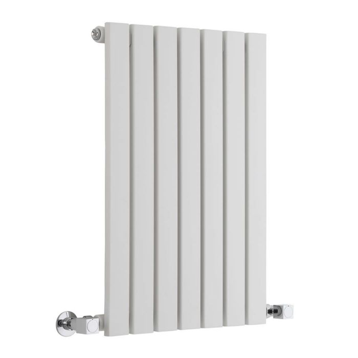 "Sloane - White Horizontal Single Flat-Panel Designer Radiator - 25"" x 16.5"""