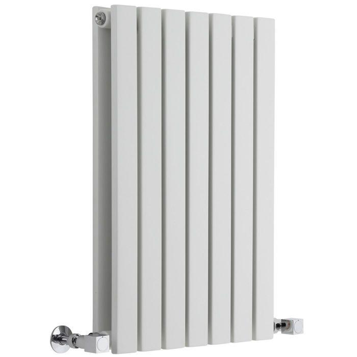 "Sloane - White Horizontal Double Flat-Panel Designer Radiator - 25"" x 16.5"""