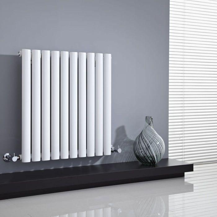 "Revive - White Horizontal Single-Panel Designer Radiator - 25"" x 23.5"""