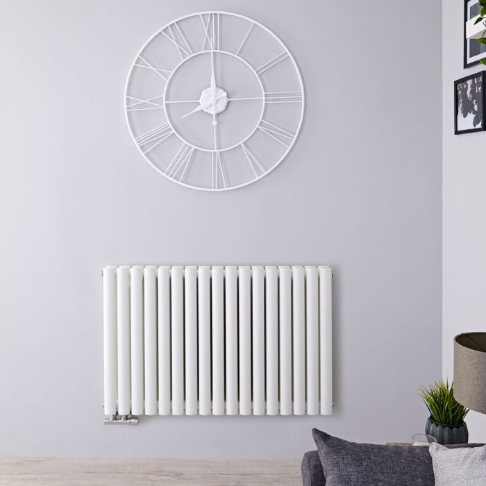 "Revive Centrix - White Horizontal Double-Panel Designer Radiator - 25"" x 39.25"""