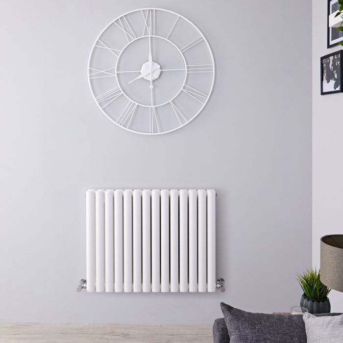 "Revive - White Horizontal Double-Panel Designer Radiator - 25"" x 32.75"""