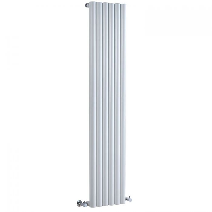 "Savy - White Vertical Single-Panel Designer Radiator - 63"" x 14"""