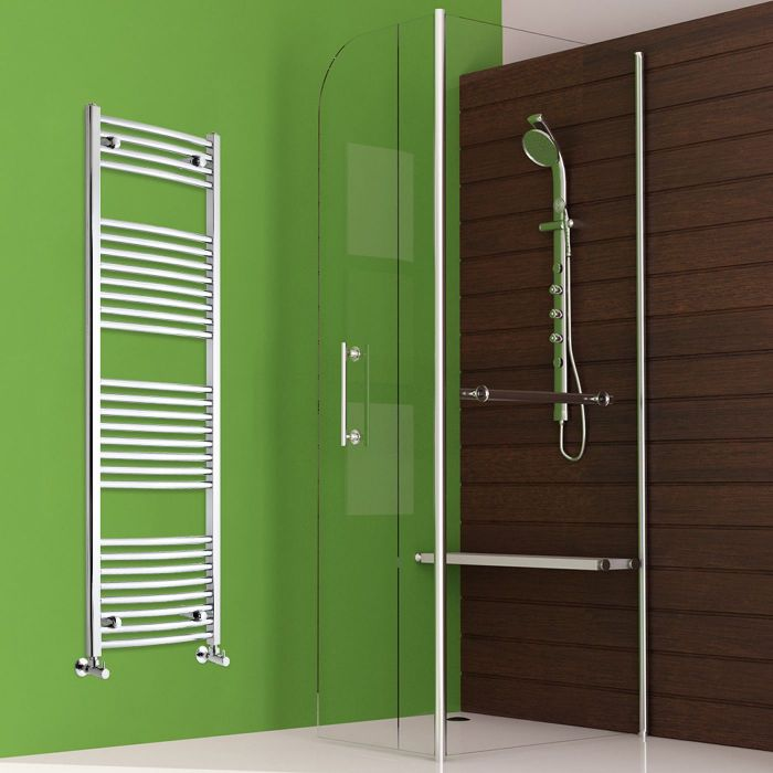 "Etna - Hydronic Chrome Heated Towel Warmer - 59"" x 19.75"""