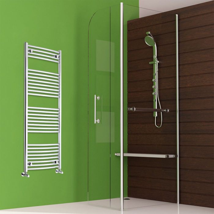 Etna - Hydronic Chrome Heated Towel Warmer - 59