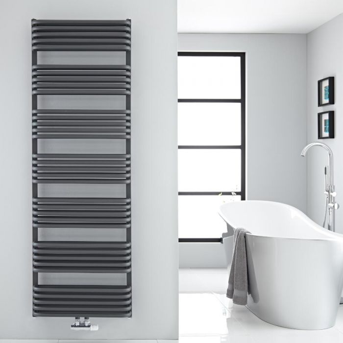 """Arch - Anthracite Hydronic Heated Towel Warmer - 70.75"""" x 23.5"""""""