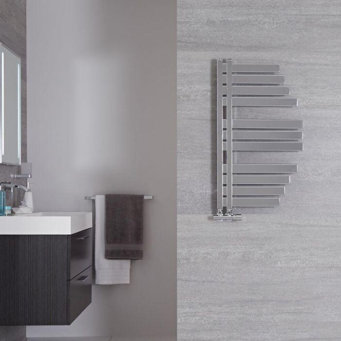"Lazio - Chrome Hydronic Designer Towel Warmer - 31.5"" x 18.25"""