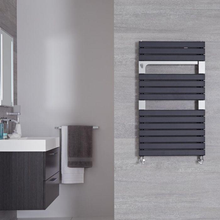 "Seina - Anthracite Hydronic Designer Towel Warmer - 37.5"" x 21.75"""