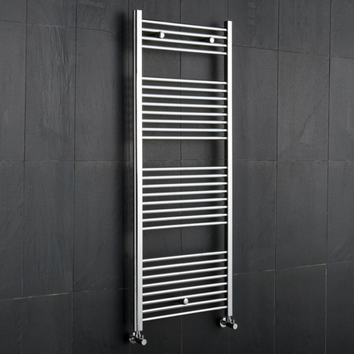 "Linosa - Hydronic Chrome Heated Towel Warmer - 59"" x 23.5"""