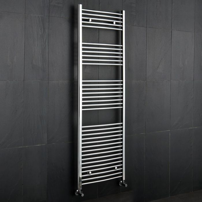 "Linosa - Hydronic Chrome Heated Towel Warmer - 70.75"" x 23.5"""