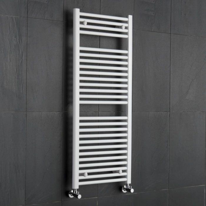 "Etna - Hydronic White Heated Towel Warmer - 47.25"" x 19.75"""